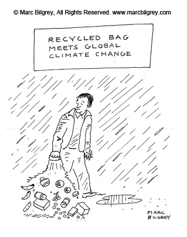 recycled bag meets global climate change
