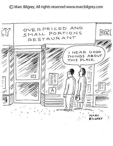 overprice small portions restaurant