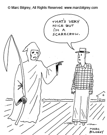 scarecrwo and grim reaper