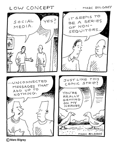 social media comic strip
