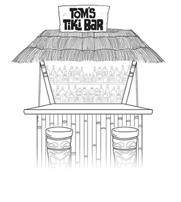 toms tiki bar by jason and marc